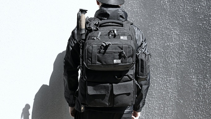 The Tactical City Pack can be modular with Big Pouch Waist Bag, Medium Pouch, and Small Pouch.