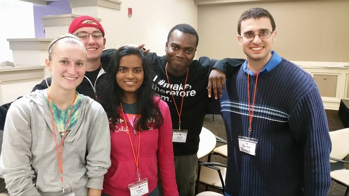 From Left-to-Right: Sarah, Tyler, Sravya, Damola, and Brian