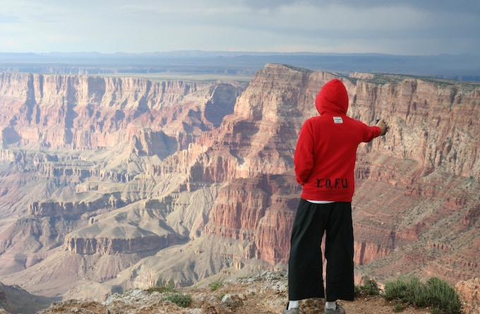 The Grand Canyon during the 2009 T.O.F.U. Tour