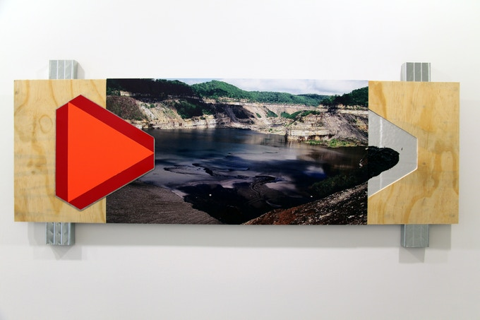 "Jason S. Brown / Title: ""Impoundment"" / Size: 26"" x 62"""