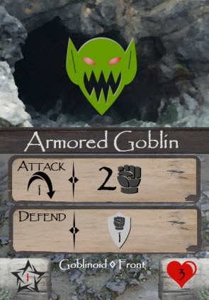 Armored goblins may be difficult to defeat with swords or Earth spells