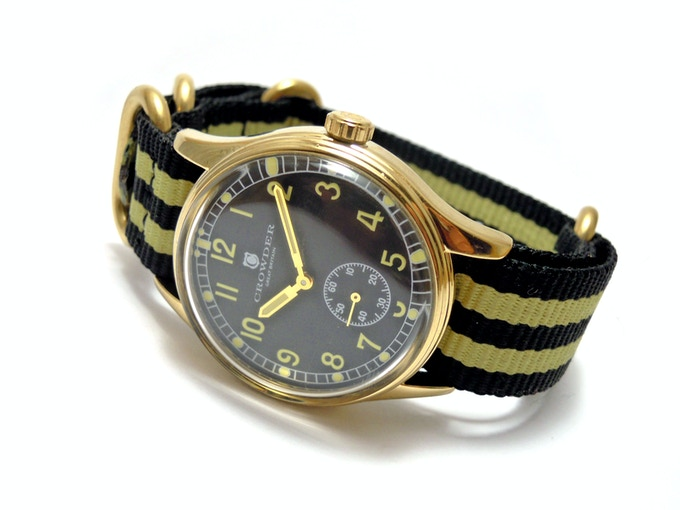 Crowder ATP Watch - Black Dial / Black & Citrus Nylon Strap