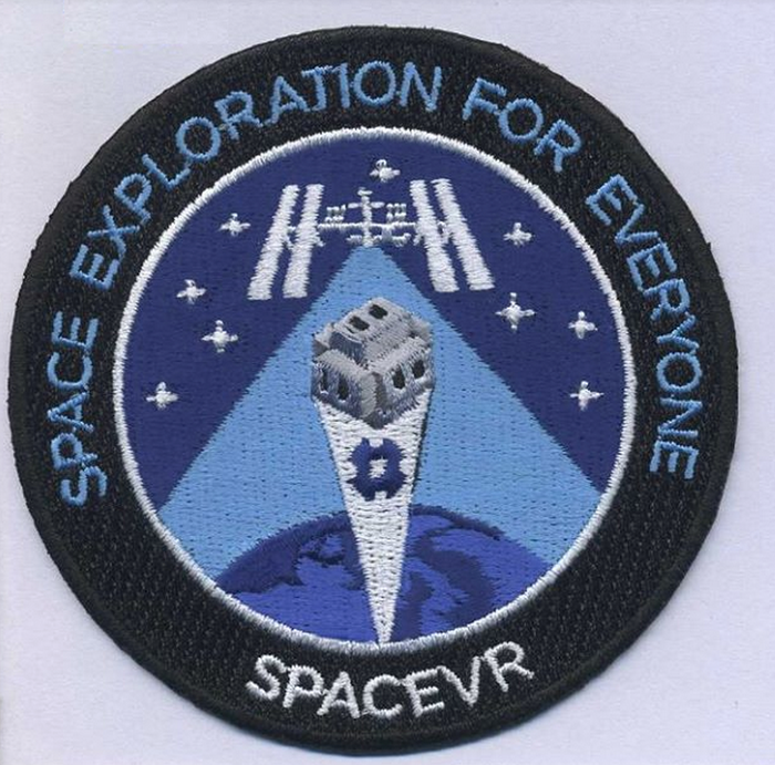 Figure 2- SpaceVR mission patch that is flying to space!