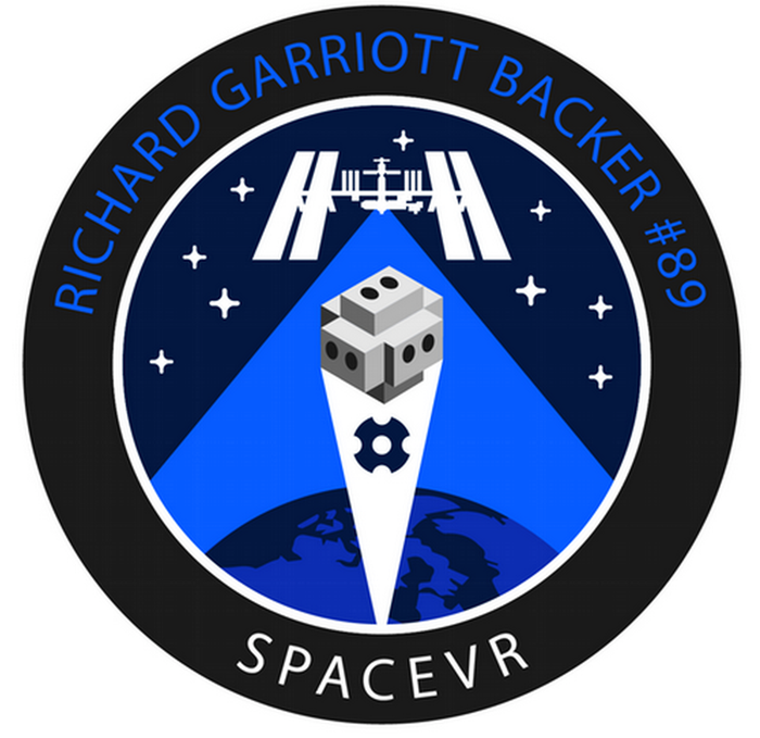 Figure 5 - Personalized Digital Mission Badge of Richard Garriott - SpaceVR Advisor, Private Astronaut, Founder of Portalarium, and Space Enthusiast
