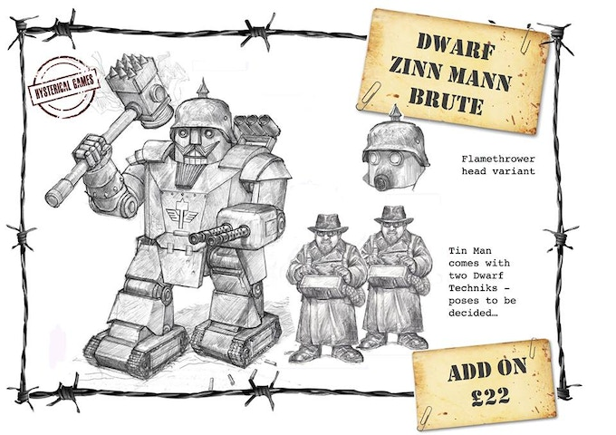x3 Resin Miniatures, Supplied with x2 25mm and x1 40mm Plastic Bases. Available as an add-on for £22