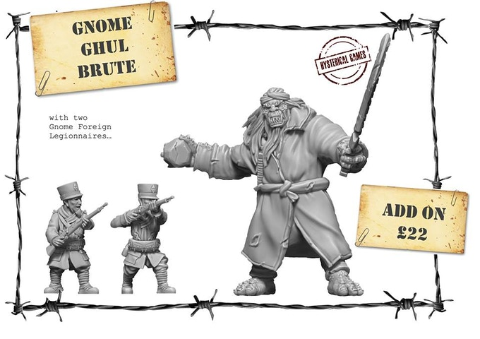 x3 Resin Miniatures, Supplied with x2 20mm and x1 40mm Plastic Bases. Available as an add-on for £22