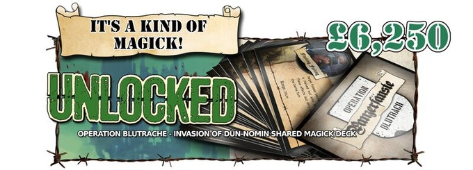 Operation Blutrach Cards are Unlocked as an Add-On! Backers of Captain Level and above receive 1 free card deck!