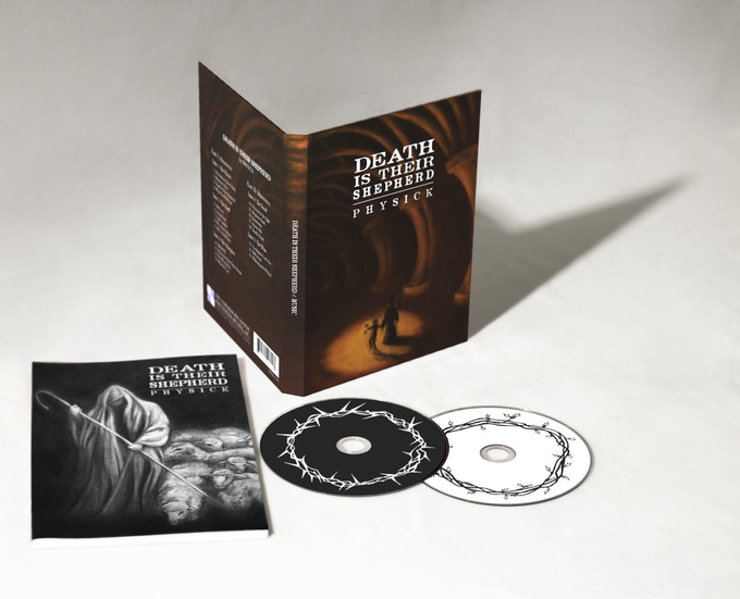 A mock-up of what your album case (back), CDs (right), and narrative companion book (left) will look like!