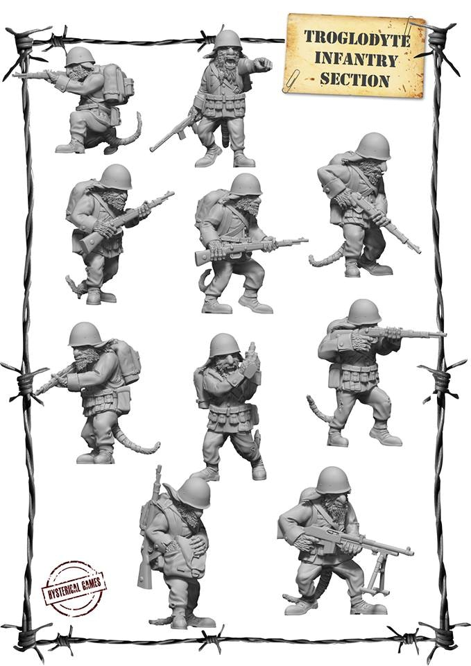 x10 Resin miniatures, supplied with x10 25mm Plastic Bases (available as an add on for £22)