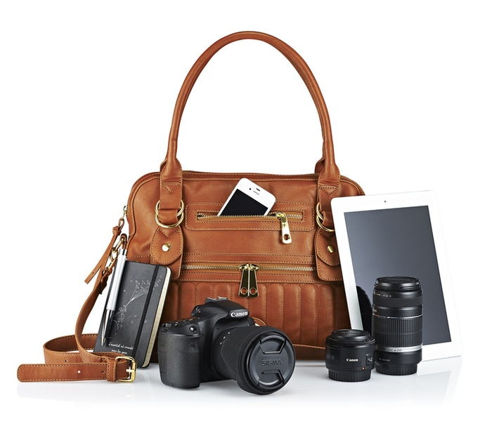 Move aside, generic polyester camera bag. Make way for The Hampton Camera & Tech Bag. For your beloved DSLR, iPad, laptop, and much more.