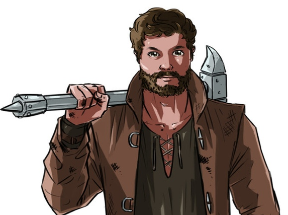 An example of the art style for the BE THE HERO backers.