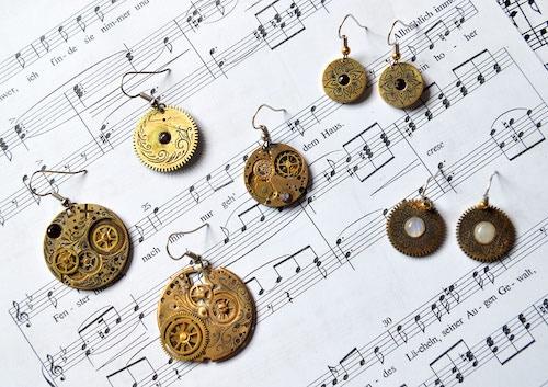 Beautiful Steampunk Earrings