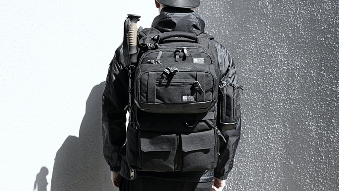 Big Pouch can be attached to the front of the Tactical City Pack.