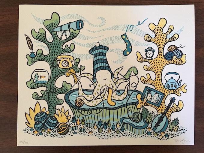 """An 8""""x10"""" silkscreen print by Tao Nyeu"""