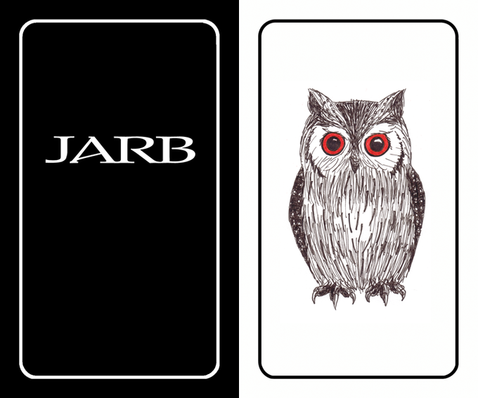 JARB Card - front & back (1 of 20 designs)