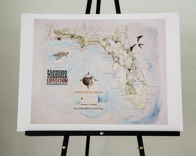"16x20"" Poster marking the 1,000 mile trek taken by the 2015 Expedition"