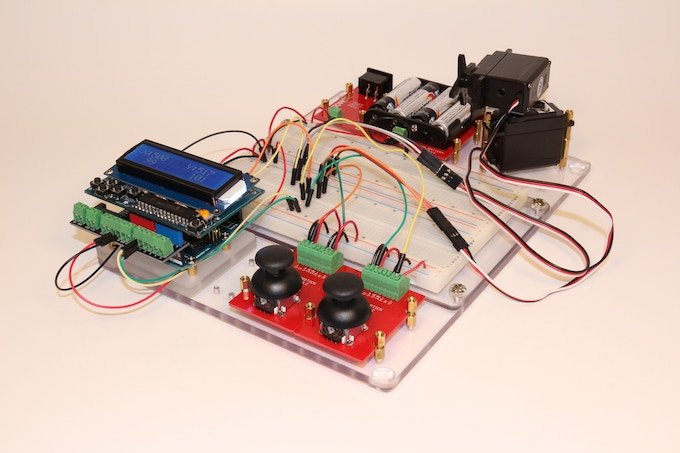Build a portable, self-powered Arduino system for servo testing.