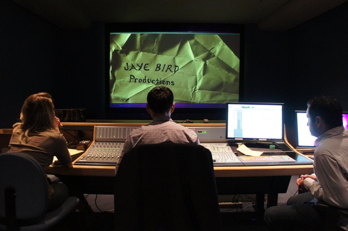 "Cassie Jaye overseeing a sound mix session at Skywalker Sound for her film ""The Right to Love"""