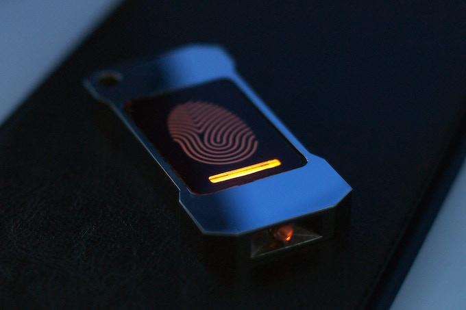 Lumen with tritium mark in a dark room