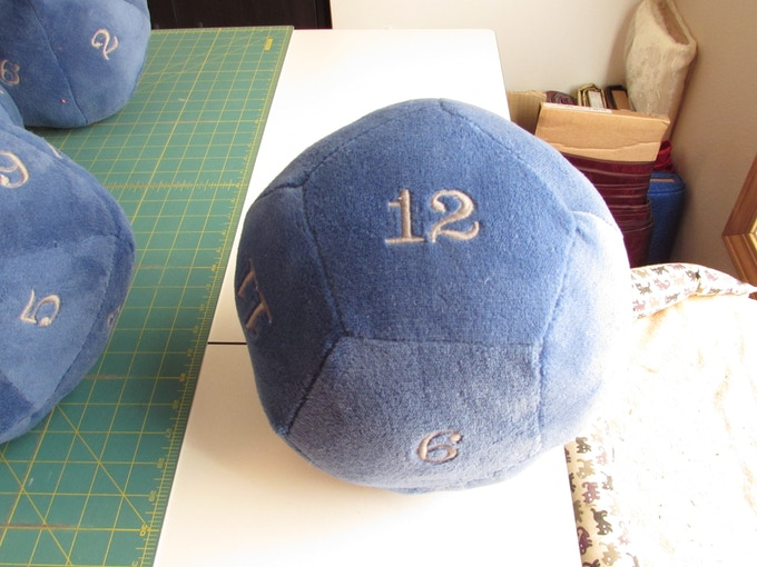 d12 in Blue and Silver