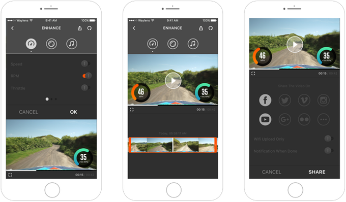 Select screens from our prototype mobile app