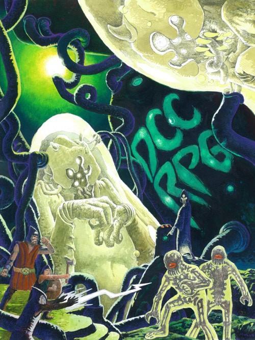 Peter Mullen's alternate cover art for DCC RPG 4th printing