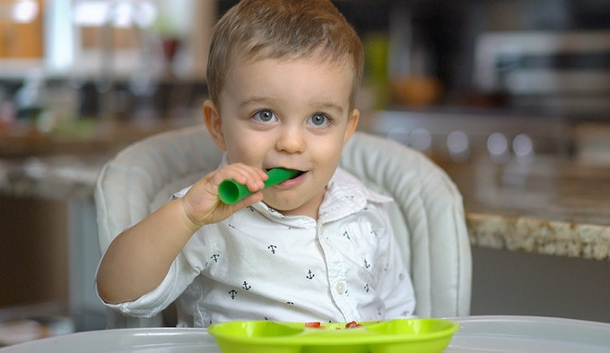 Toy-like design promotes self-feeding