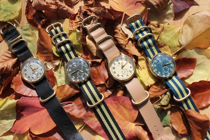 The Four Crowder ATP Watch Designs - Silver / Black Leather, Black & Citrus Nylon, Cream / Natural Leather, Blue & Citrus Nylon