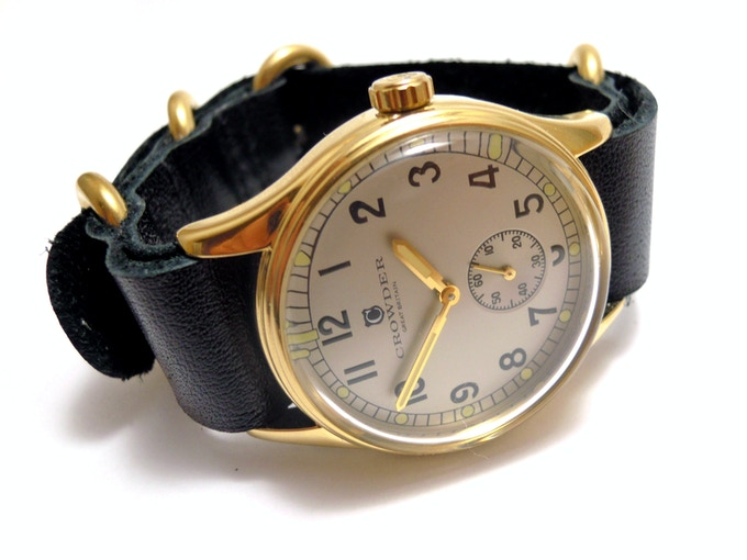 Crowder ATP Watch - Silver Dial / Black Leather Strap