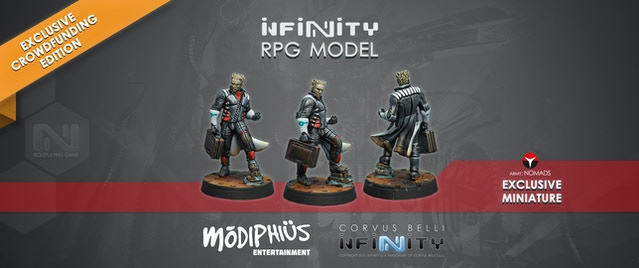 Corvus Belli's INFINITY Roleplaying Game by Chris Birch, Modiphius