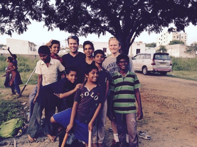 Spending time with some of the kids at Grace orphanage.
