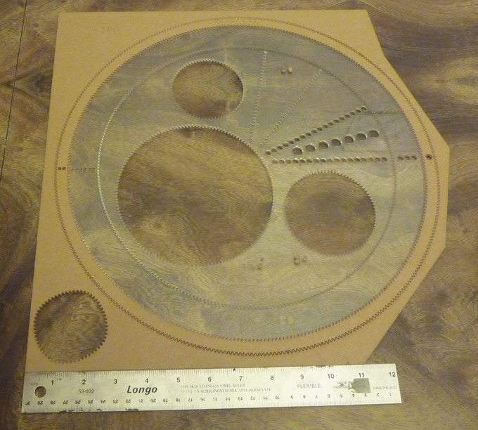 Ruler included for scale.  Example of enormous gears.