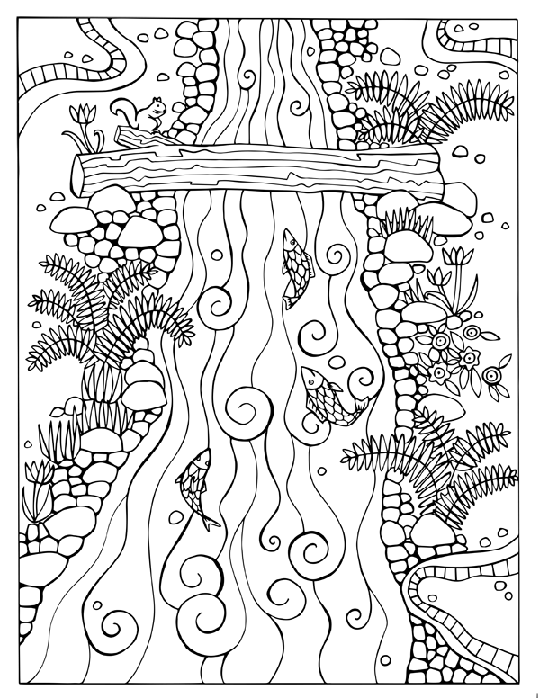 Fortuna Coloring Book River Bed Page