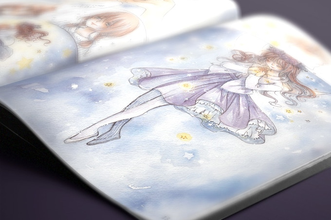 """Mock up only - final product may differ. Art from Cherriuki's """"Twinkle Twinkle Little Star""""."""
