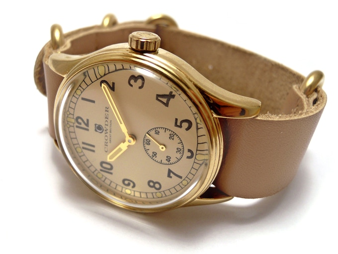 Crowder ATP Watch - Cream Dial / Natural Leather Strap