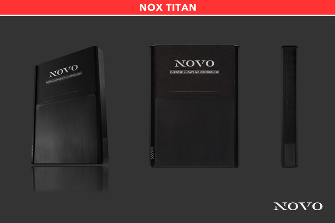 The Nox Titan metal wallet fuses the black aluminum core with a titanium coated brushed stainless steel vise to create the darkest shade of the entire collection.