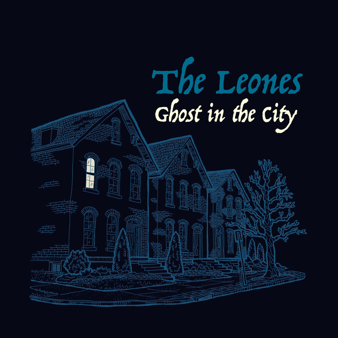 """Ghost in the City"" album art by artist Mickey Harmon"