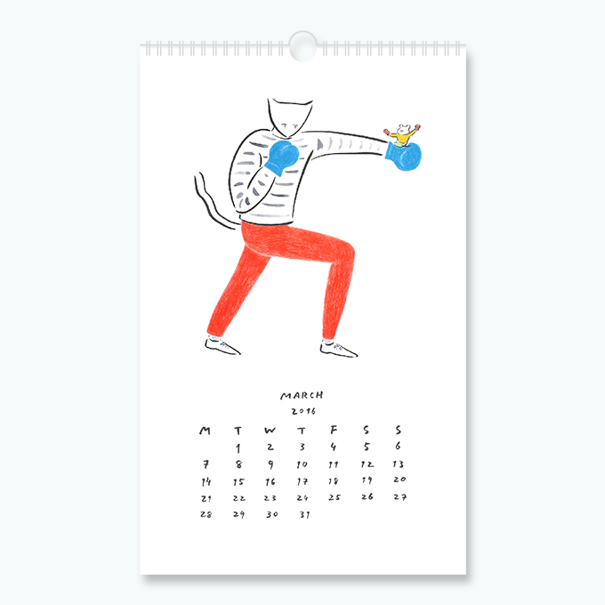 """""""March Cat"""" from 2016 Cats I Know Calendar"""