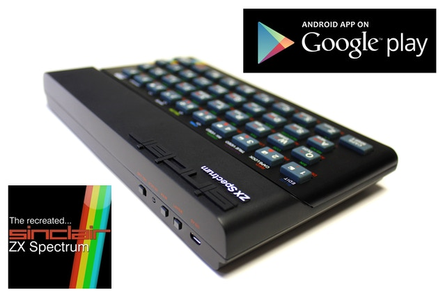 """Caption: after an """"uncomfortable gestation"""" (the app was scheduled for release w/c 28th Sep) the Recreated ZX Spectrum app for Android phones and tablets is available to download from Google Play."""