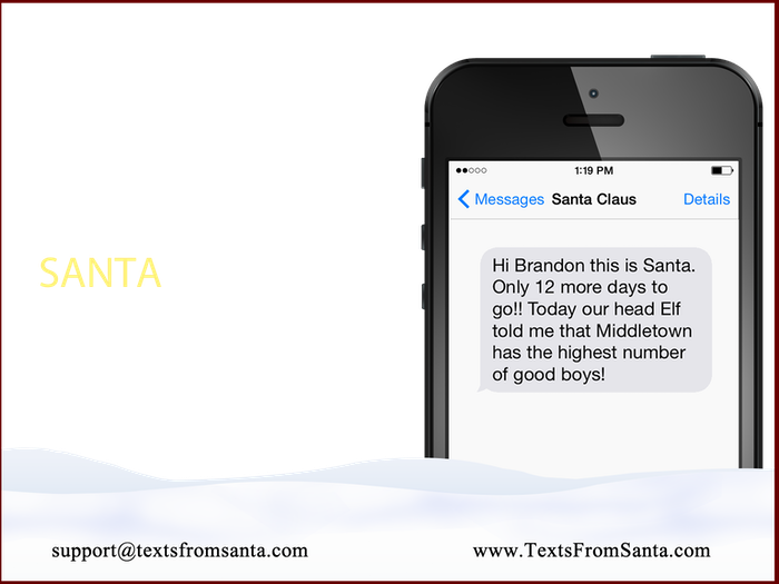 have santa text your child this christmas