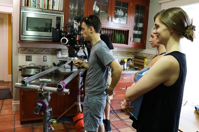 Director Jessica Scalise with Cinematographer Sean Brown