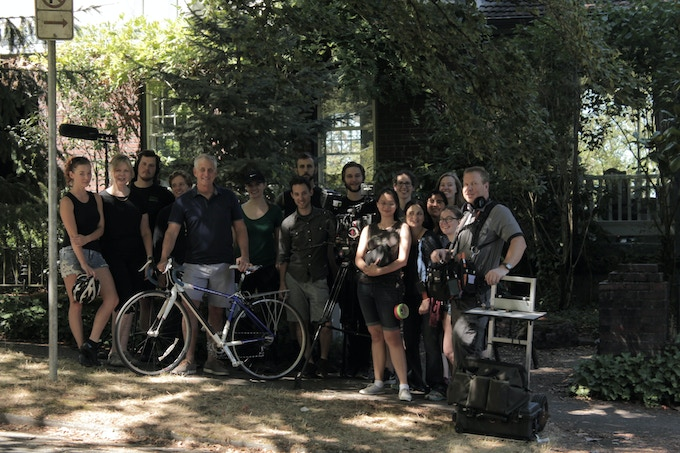 Mayor Charlie Hales with the Film Crew