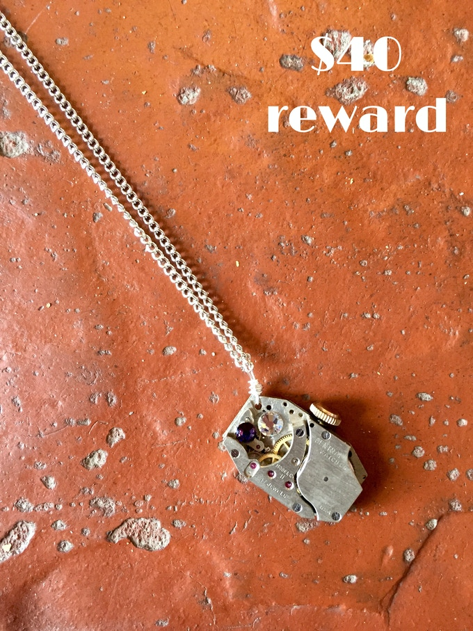 Steampunk Necklace created by Waxwing shop artist Steenhagen Studios, $40 reward