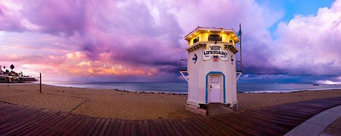 """Lifeguard Tower"" Laguna Beach  CA - 52 miles from L.A."