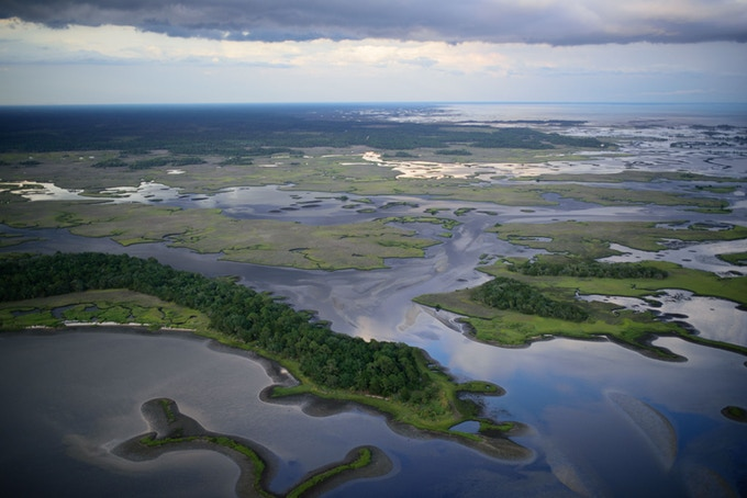 Suwannee sound is dotted with thousands of islands, uninhabited by man. Photo by Carlton Ward Jr.