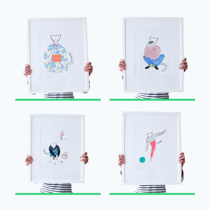 4 different original illustrations options for $375 rewards