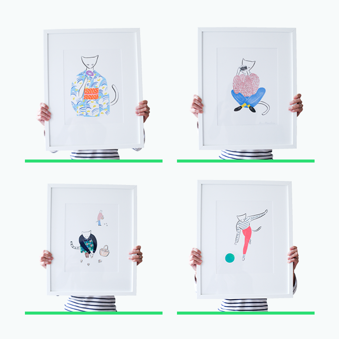 Calendar Illustration Questions : Cats i know calendar by kaori mitsushima —kickstarter