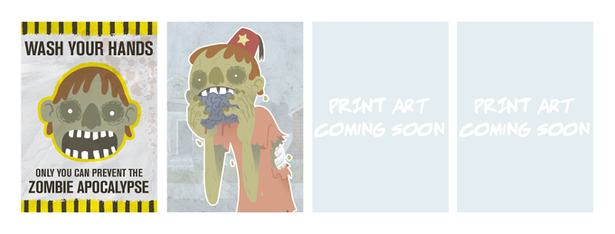 the set of 5x7 prints... if the zombies don't get you, the susupense will!