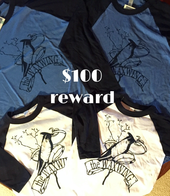 Family Waxwing T-shirt Package: 2 adult & 2 youth tees printed by Waxwing shop artist Orchard Street Press, $50 reward