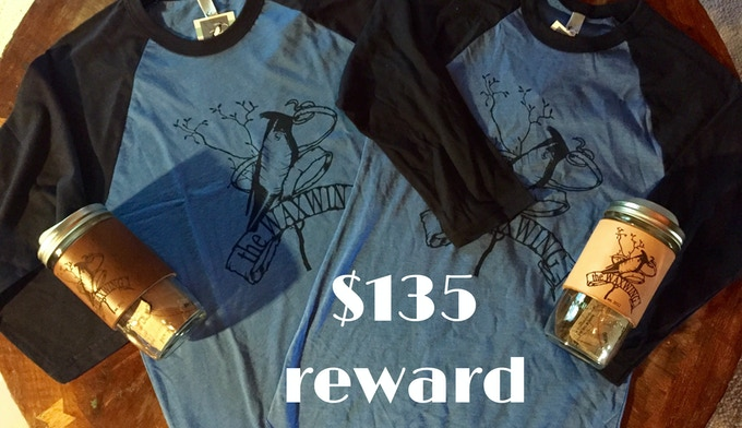 Waxwing Raglan Tee & Leather-Bound Travel Mug Double Up Rewards Package, $135 reward